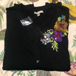 Beautiful embellished black cardigan